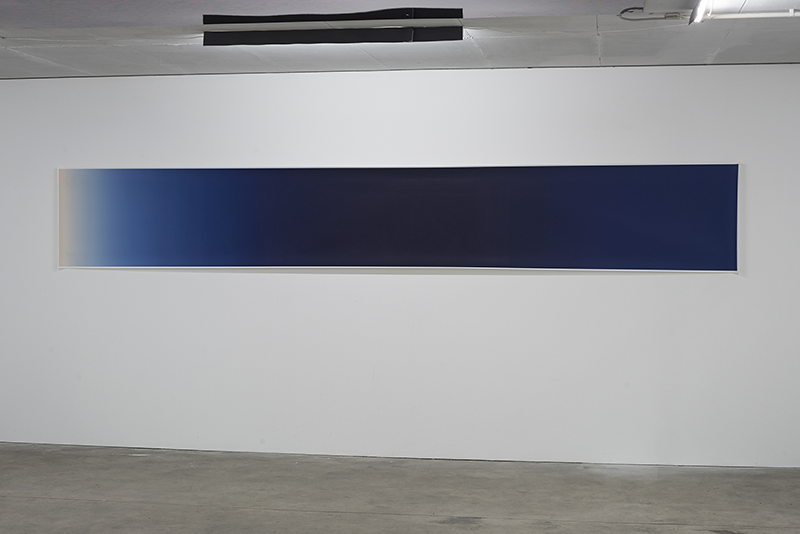 THE MAGIC BLUE HOUR (from West to East), 2013, Fine Art Print, 400 x 60 cm