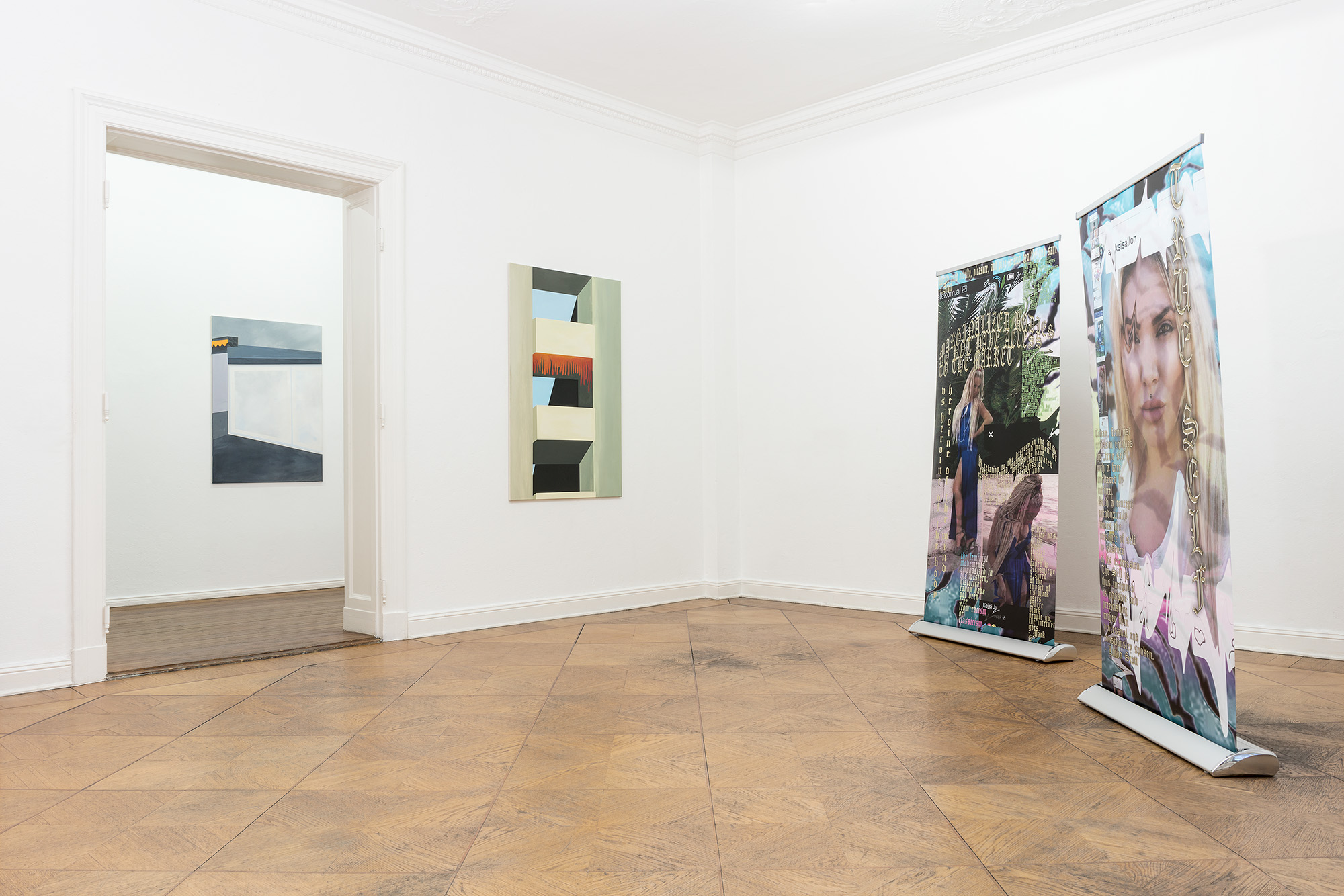 Exhibition view ADLER EHRENSTEIN LEY, Galerie Anton Janizewski, Photo: Sascha Herrmann
