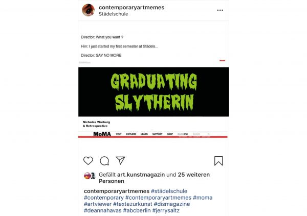 On view: Nicholas Warburg – Graduating Slytherin
